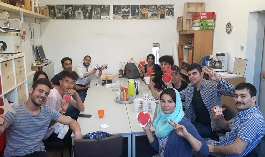 InteA-Klassen der Kaufmännischen Berufsschulen Marburg besuchten  am 20.04.18 die JUKO Marburg e.V.