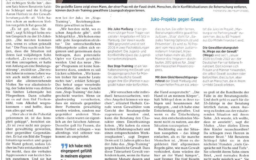 """Zeitungsartikel Beratungsstelle """"Wege"""""""